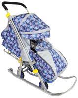Санки коляска Галактика Детям 2, синие