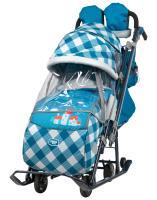 Санки коляска Ника Детям 7-4, капри в клетку
