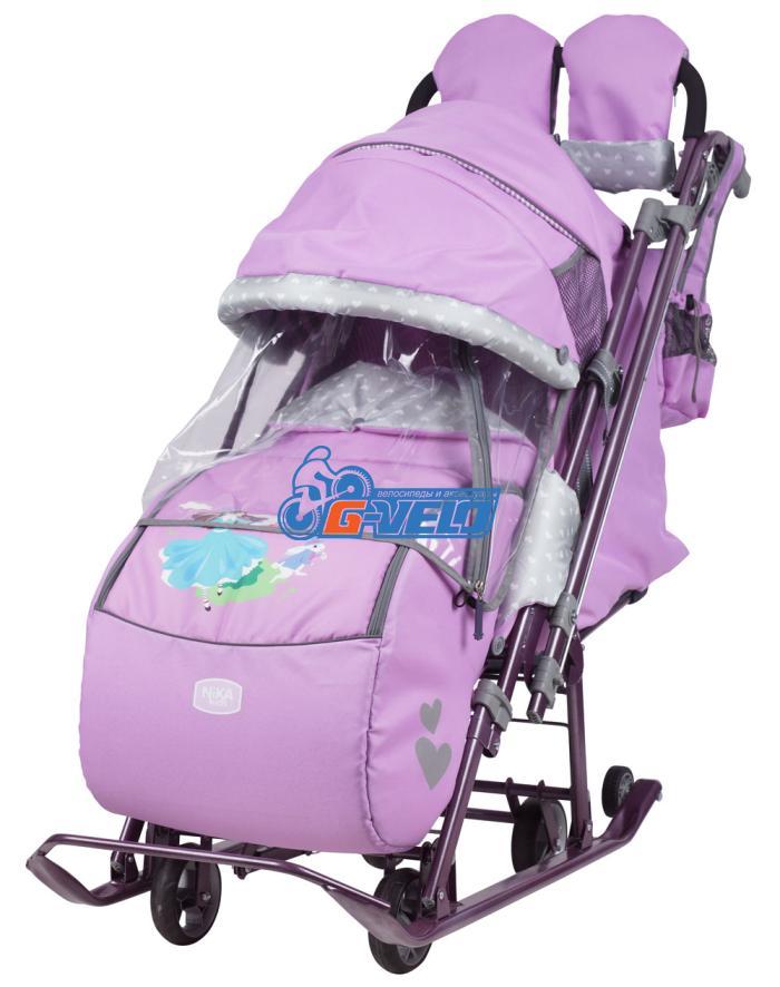 Санки коляска Ника Детям 7-4, лиловый