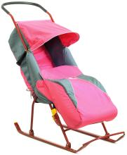 Санки коляска Тимка 2 розовые