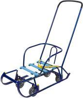 Санки Тимка 6 универсал с колесами, синий
