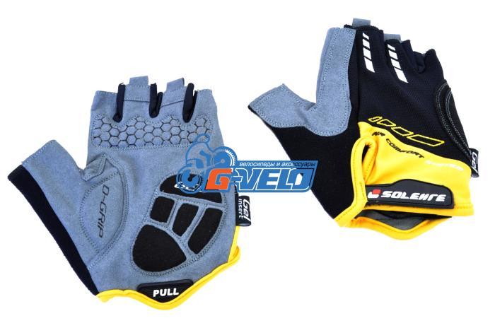 Велоперчатки SOLEHRE SB-01-5002, черные/оранжевые
