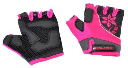 Велоперчатки SOLEHRE SB-01-5281, розовые