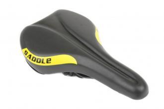 Седло HONGFEI, 280x160 мм, черный/желтый, HF-AZ-6086-03