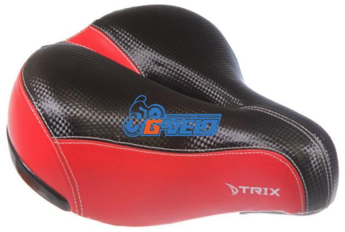 Седло TRIX GFAZ-32 черный с красной вставкой, 270*240мм