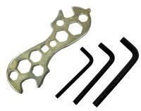 Stels, набор инструмента, ключ семейный + шестигранники