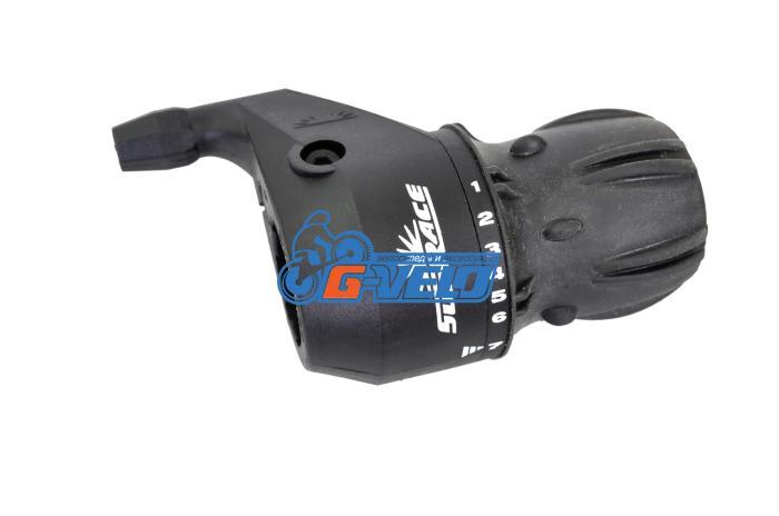 Шифтер SunRace M2S 7ск черный, с тросом