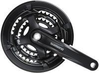 Система Shimano FC-TY701 48-38-28T 175мм, черный, квадрат, с защитой
