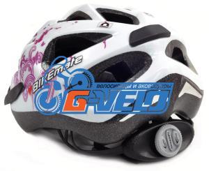 Велошлем CRATONI BIKEmate MTB белый/розовый бабочки, 49-54 см