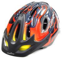 Велошлем CRATONI SPORTIVO MTB черный/красный пламя 49-55 см