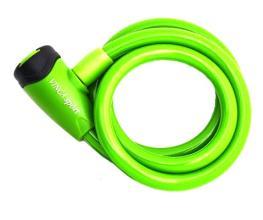 Vinca Sport, Замок велосипедный 10*1200мм, зеленый, защита от влаги, VS 565 green
