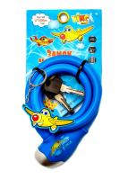 Замок детский c брелоком 12*1000мм, синий тросик Vinca Sport VS 560 blue Planes