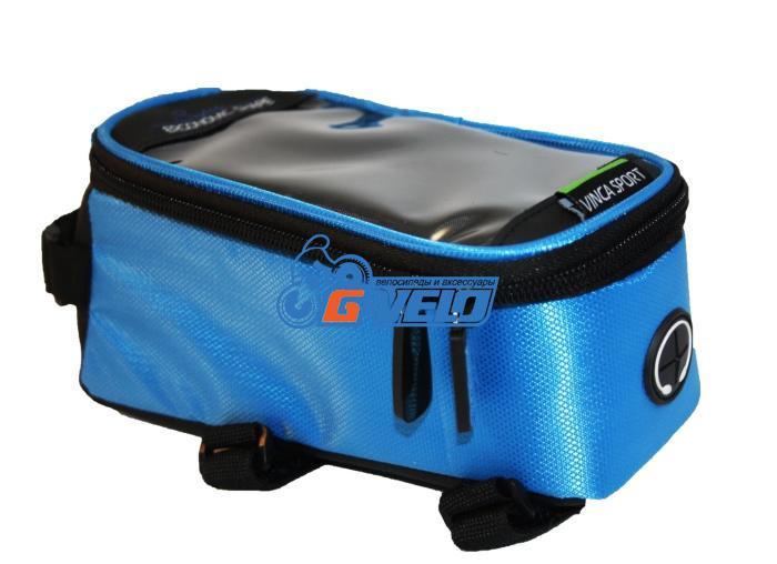 Vinca Sport, Сумка на раму, отделение для телефона, 195х100х100мм, синий FB 07-2 L blue