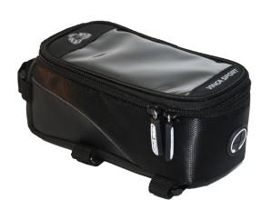 Vinca Sport, Сумка на раму, отделение для телефона, 195х100х100мм, черный FB 07-2 L black