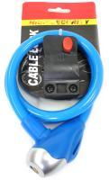 Велозамок SL576 ключ с кронштейном синий