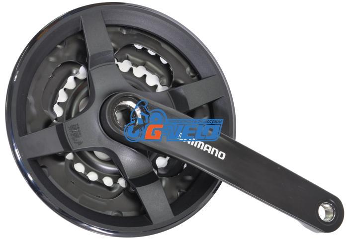Система Shimano FC-TY301 42-34-24T 175мм, черный, квадрат, с защитой