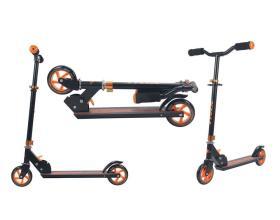 Самокат детский TRIX SONIC, Колеса: 2 х 125 мм, черный-оранжевый, 2019
