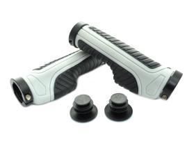 Грипсы SAIGUAN SR-86 анатомические 130 мм, черный/серый, 2 грипстопа