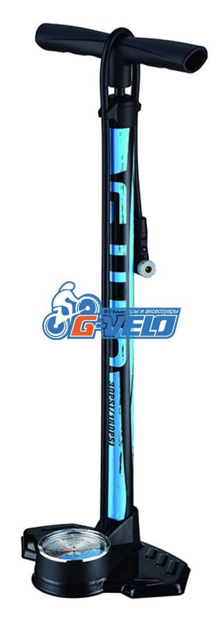 Стационарный насос с манометром GIYO GF-2332 авто/вело нипель, max 14 bar