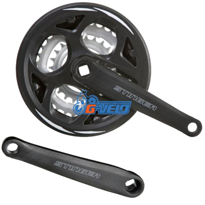 Шатуны STINGER GS-S303P69S20 42B/34S/24S 170MM черные Х74375
