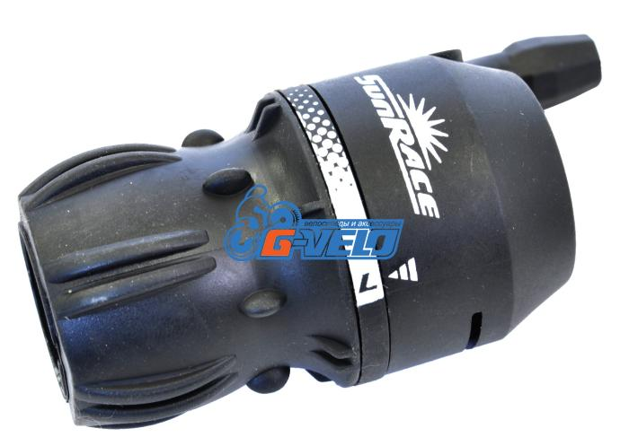 Шифтер SunRace M2S friction черный, с тросом