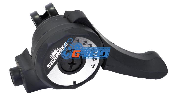 Шифтер SunRace M2T 7ск черный, с тросом