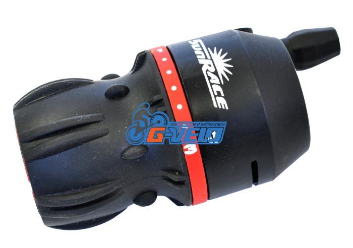 Шифтер SunRace M2B friction черный, с тросом