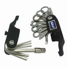 Складной набор инструмента 21 в 1, 2/2,5/3/4/5/6/8mm&отвёртка,спицной ключ,монтажки, SuperB 9800