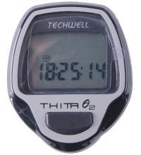 Велокомпьютер Techwell беспроводной Thita-9W 9 функций, черный