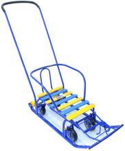 Санки Тимка 5 универсал с колесами, синий