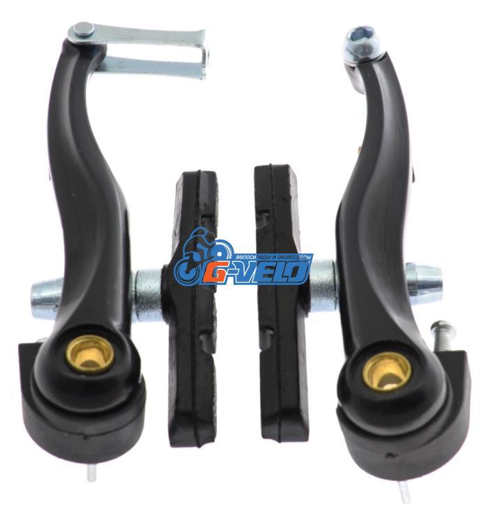 Тормоз V-brake POWER, алюминиевый сплав 110мм, black, колодки 70 мм