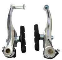 Тормоз V-brake Vinca Sport, одна пара, алюминиевые, 107мм, колодки 65мм, серебристые VVB 9