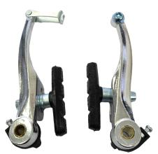 Тормоз V-brake, Vinca Sport, одна пара, алюминиевые, 107мм, колодки 65мм, серебристые VVB 9