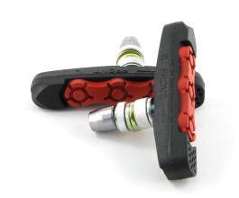 Колодки Vinca sport для V-brake 72мм, VB 111-2 black/red, черные с красным