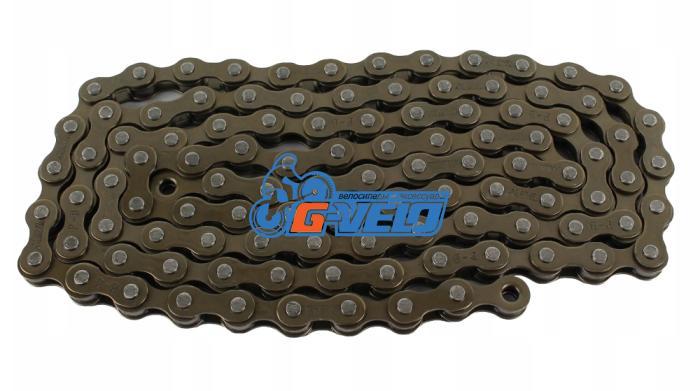 Цепь MAYA (X410) 1ск (112 звеньев,Цвет:Brown/Brown) с замком, длина пина 8,6 мм
