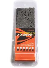 """Цепь TRIX, 9 скоростей 1/2х11/28"""", 116 звеньев, с замком, пин 6,3 мм, серая"""