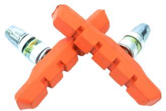 Колодки Vinca sport для V-brake 72мм, VB 111 orange, оранжевые