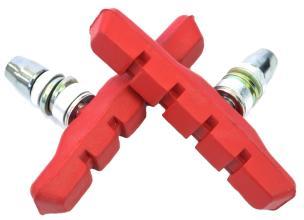 Колодки Vinca sport для V-brake 72мм, VB 111 red, красные