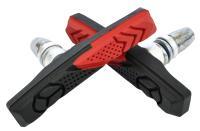 Колодки Vinca sport для V-brake 72мм, VB 115 BR, черно-красные