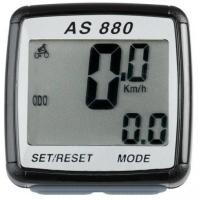 Велокомпьютер ASSIZE AS880 11 функций, проводной, черный