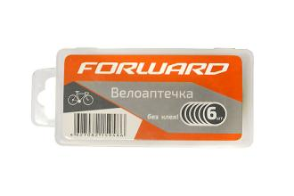 Велоаптечка Forward, самоклеющиеся заплатки 6шт, пласт.коробка