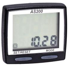 Велокомпьютер ASSIZE AS200 11 функций, проводной, черный