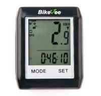 Велокомпьютер BikeVee беспроводной BKV-6000, 13 функц, Touch screen, черный