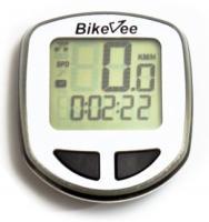 Велокомпьютер BikeVee проводной BKV-1001, 13 функций, черно-белый