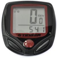 Велокомпьютер STG 15 функций, проводной, черный
