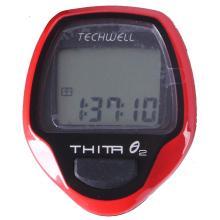 Велокомпьютер Techwell проводной Thita-2 8 функций, красный