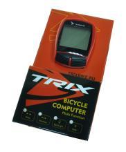 Велокомпьютер TRIX проводной, 16 функций, красный XC-B13 (RED)