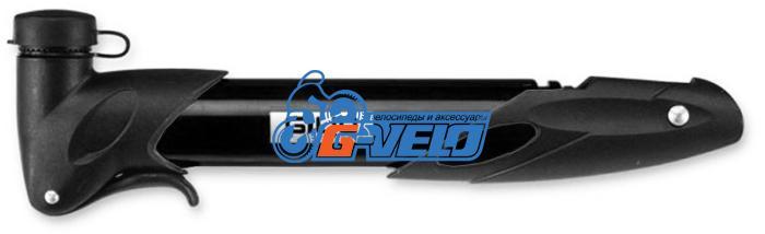 Велонасос GIYO GP-77 mini pump пластик, телескоп, Т-обр.ручка, черный