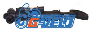 Велонасос GIYO GP-74 mini pump с манометром, поворотный зажим AV/FV