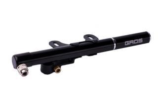 Велонасос Gros ZT-507, металлический, AV/FV, игла для мяча, заплатки